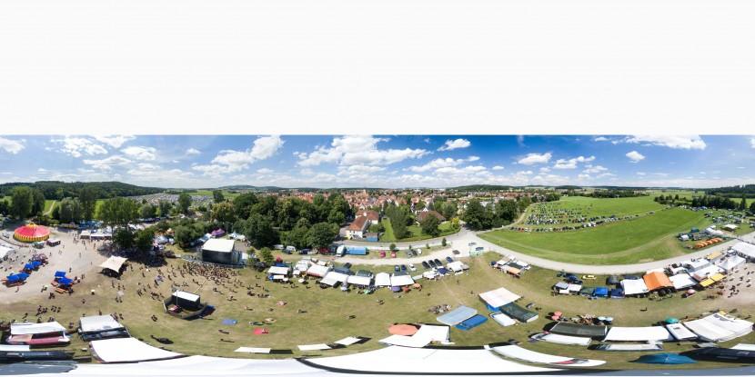 Panoramafoto Luftbild Afrika-Karibik-Fest Wassertrüdingen 2016